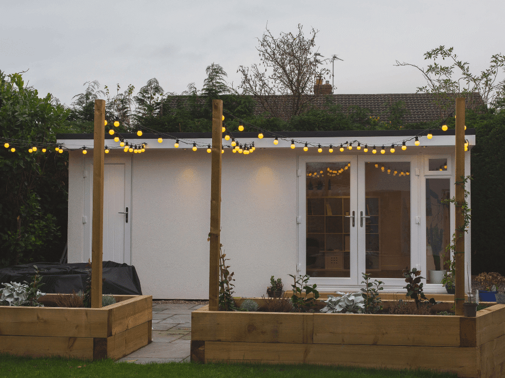 Garden room and landscaping Wirral